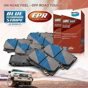 8Pcs Front + Rear Bendix 4WD Brake Pads Set for Jeep Cherokee KK Wrangler JK