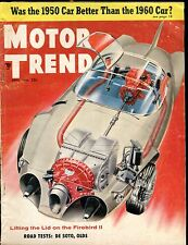 Motor Trend Magazine April 1956 Firebird II VG No ML 030117nonjhe