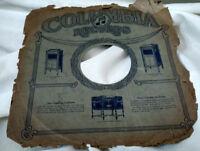 "Rare 12"" 78 Phonograph Sleeve Columbia Grafonola"