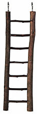 7 Rung Natural Living Wooden Ladder Bird Cage Budgie Canary Rodent Toy 30cm