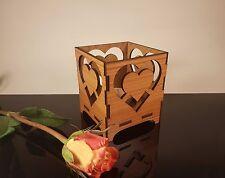 CUORE decorativo portacandele, Romantico Regalo, Candela Stand, Tè Leggero titolare