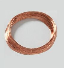 26 Ga Copper Jewelry & Craft Wire (450 Ft. Coil / 5 Oz) SOFT  Pure Copper