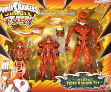Power Rangers Jungle Fury - Deluxe Tiger Red Ranger Gift Set 3-Pack Bandai (MIB)