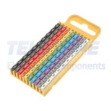 100pcs  Segna cavi per cavi e fili 4,3÷5,3mm plastica -40÷85°C
