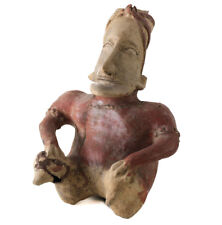 Pre-Columbian JALISCO Mexico Pottery Large Seated Figure, Ameca Gray style