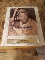 Hank Aaron Signed Autographed 8x10 Photo  Framed baseball Braves 1982 COA