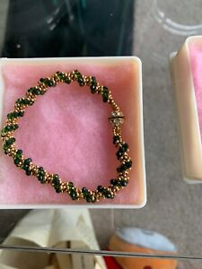Crystal bracelet (green And Gold Plate)