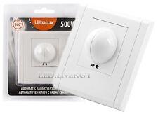 Sensore di Movimento ad Incasso a Microonde 360° 220V per Lampade Led Faro Luci