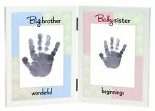 The Grandparent Gift Co. Sweet Somethings Handprint Frame, Big Brother/Baby S.