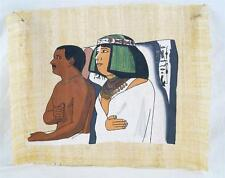 Vintage Egyptian Hand Painted Papyrus