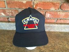 Vintage Navy Blue CAMEL Mud & Monster Truck Series Logo Hat Cap SnapBack