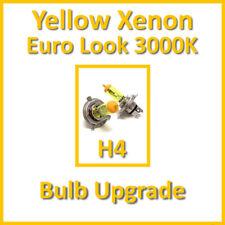 Warm White 3000K Yellow Xenon Headlight Bulbs Main Dip Beam H4 60/55W (x2)