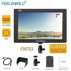 Feelworld FW703 IPS 7'' 3G-SDI 4K HDMI Video Monitor Full HD 1920x1200 On-Camera