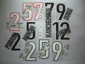 KIT NOME+NUMERO UFFICIALE RANGERS H/A/3RD 1998-1999 OFFICIAL NAMESET REPLICA SZ
