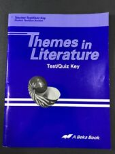 ABeka Themes in Literature 9th Grade Teacher Test/Quiz Key 2nd Edition