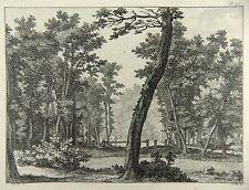 Charles-Nicolas Cochin; Chedel - Landscape - fine copper engraving - 1755