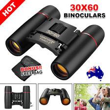 30x60 Portable Pocket Binoculars Folding Compact Small Travel Telescope With Bag
