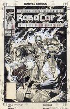 Jim Lee & Lee Sullivan: Robocop 2 #1 Cover Original Comic Book Art 1990