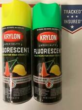 krylon Fluorescent Spray Paint Bold Neon Color High Visibility Yellow Or Green