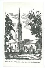 OXFORDSHIRE - CHURCH of St PETER & PAUL, KING'S SUTTON, BANBURY Postcard