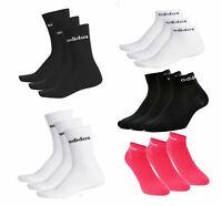 New adidas 3pr pack Ankle & Crew Socks UK 2.5 to 17 men women kids sport casual
