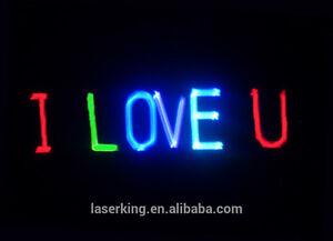TEXT + ANIMATION ALL IN ONE LASER RAVE + RED GREEN BLUE DISCO LIGHT DJ