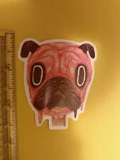 pink dog head sticker