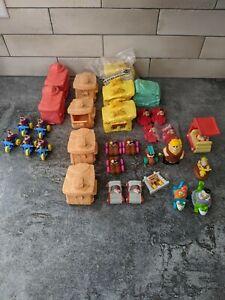 Large Lot McDonald's Happy Meal The Flintstones Movie Vehicles Buildings Toys