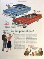 1953 Ford Convertible Vintage Advertisement 11x14 Print Art Car Ad LG66