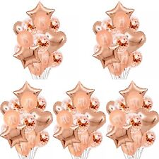 18th 21st 30th 40th 50th Birthday Decorations Balloons Rose Gold Bouquet
