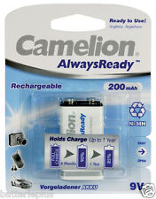 Camelion 9V Block Always Ready Akku   200 mAh / Ni-MH