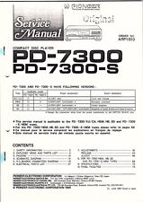 Pioneer Service Manual für  PD-7300 S