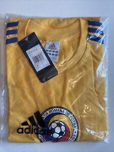 BNIB Vintage Official Adidas Romania Football T Shirt Men's Size Large