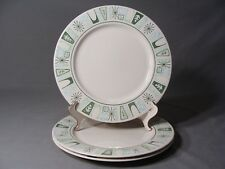 3 Mid Century Taylor, Smith & Taylor Dinner Plates In The Cathay Pattern, USA