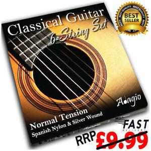 Classical Nylon Guitar Strings Spanish Acoustic Set RRP £9.99 ✯ Adagio Pro ✯