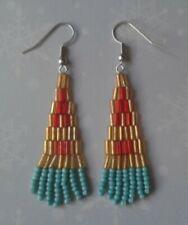 Bottom Dangle Handmade Beaded Earrings