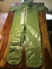Kappler CPF4 4T424 Coverall, Zipper Front, Green Size Large