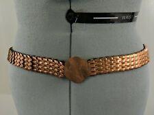 Vintage Women's Belt Copper Scales Elastic Band Size Large ? A13