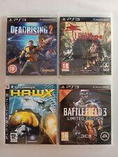 4x PS3 BUNDLE HAWX & BATTLEFIELD 3 & DEAD RIPTIDE & DEAD RISING 2 PLAYSTATION 3