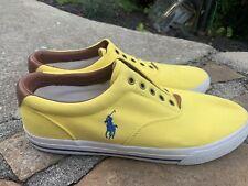 Ralph Lauren Polo Sneakers Shoes Vito Size 13D Bohk Retro Yellow ECU