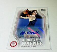 2018 Ashley Wagner Topps Olympic Figure Skater USA Autograph Card Signed 03/25