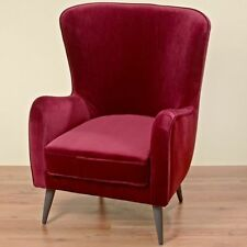 Velvet Antique Style Armchairs