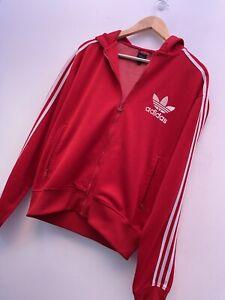 Men's Vintage 90s Y2K Adidas Black Label Track Top Zip Up Hoodie Jacket Sz L