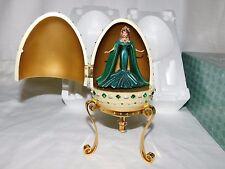 2000 Avon Barbie Empress of Emeralds Resin Egg Musical Mozart NIB
