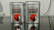 Natural American Spirit EMPTY Cigarette Tin, SILVER OVAL, NOS with orig. plastic