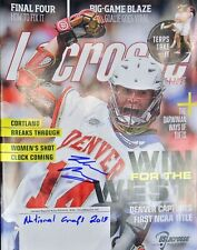 Wesley Berg DU Signed & Inscribed Lacrosse Magazine