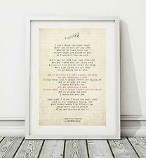 126 OneRepublic - Something I Need - Song Lyric Art Poster Print - Sizes A4 A3