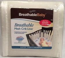 New Breathable Mesh Crib Liner Breathable Baby Safer Than Bumper SPT Creamish