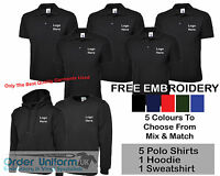 Personalised Embroidered Work Wear Package T-Shirt Hoodie Sweatshirt Polo Shirt