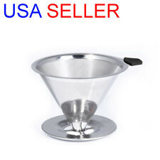 KAIZEN Pour Over Coffee Maker Stainless Steel Reusable Drip Cone Coffee filter